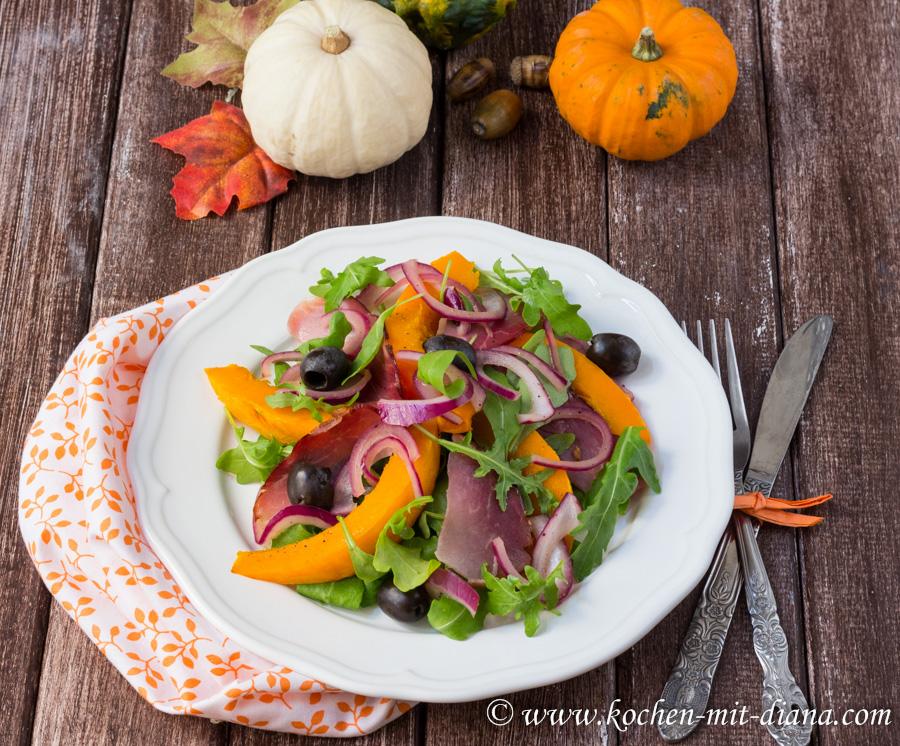 Lauwarmer Kürbis-Zwiebel-Salat