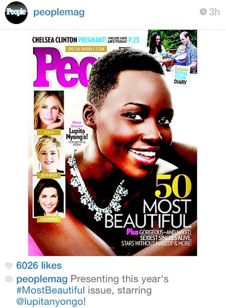 Lupita Nyong'o People Most Beautiful Woman 2014