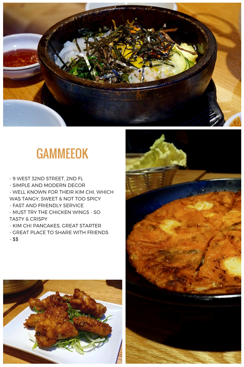Gammeeok new york korean food