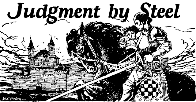 Illustration by Virgil E. Pyles for Judgment by Steel