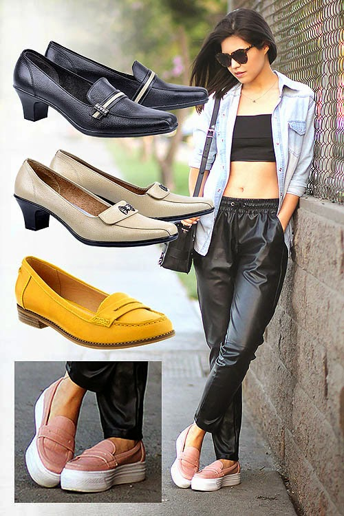 Sepatu Wanita Model Penny Loafers