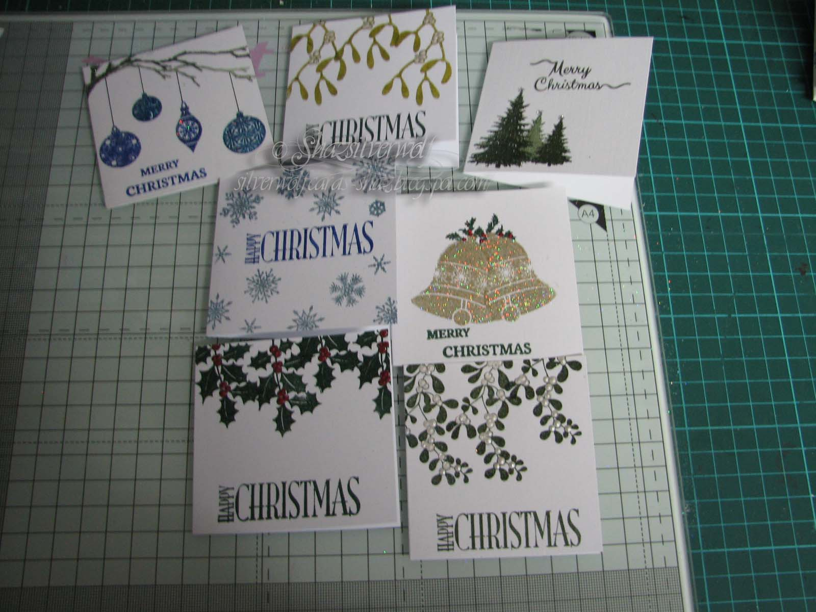 Silverwolf Cards: Christmas Card Club Challenge #24- All