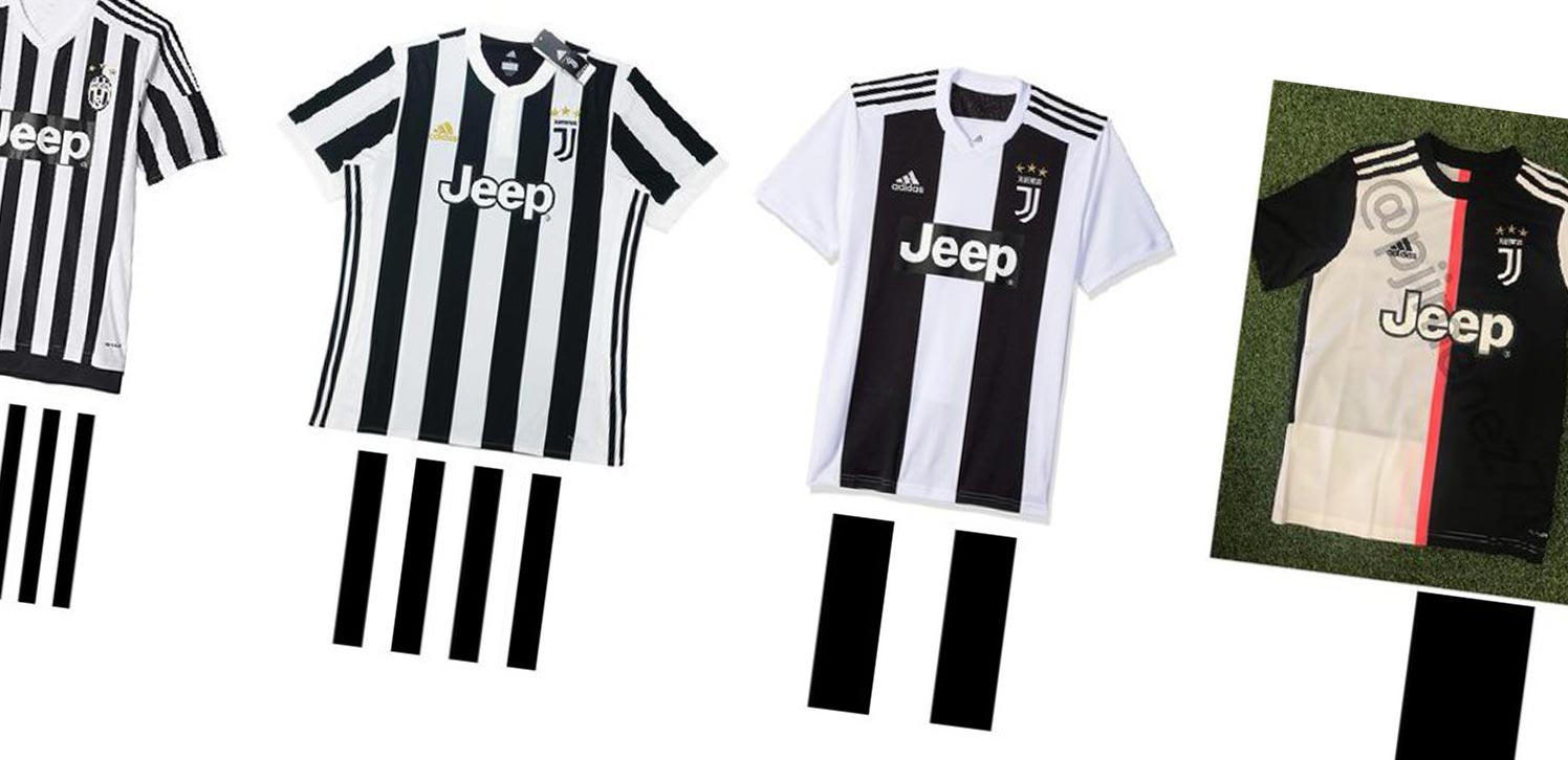 brand new 54f3a 5cd35 Less Stripes With Every Year? Here Are All 5 Juventus Home ...