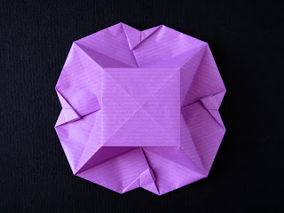 Origami Scatola a fiore, retro - Flower Box, back, Francesco Guarnieri