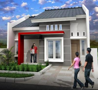 model atap pelana rumah type 36