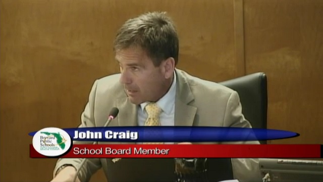 Brevard County School Board Member John Craig
