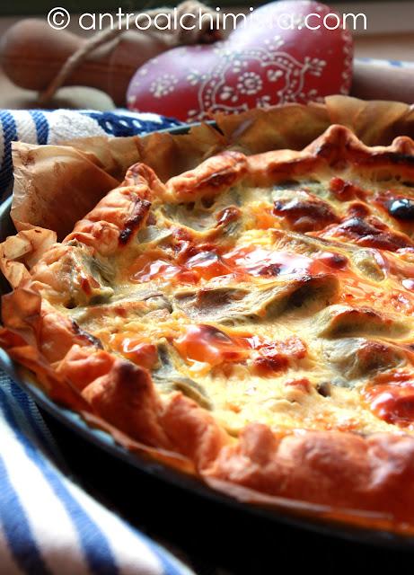 Torta Salata ai Carciofi con Pecorino e Prosciutto Cotto
