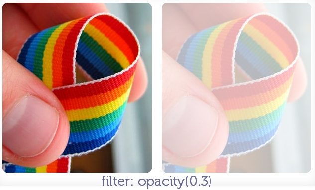 filter: opacity