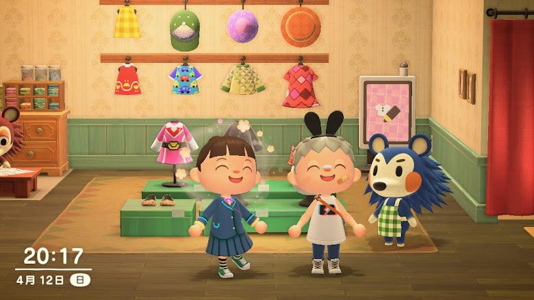 在動森世界中,拜訪在日本工作朋友的家