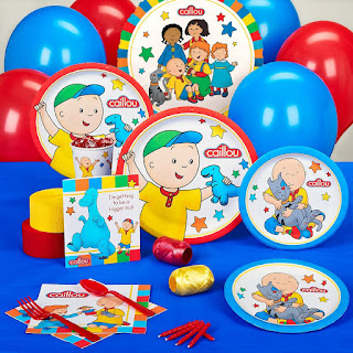 Caillou birthday party supplies-deluxe party pack come with everything you see here.