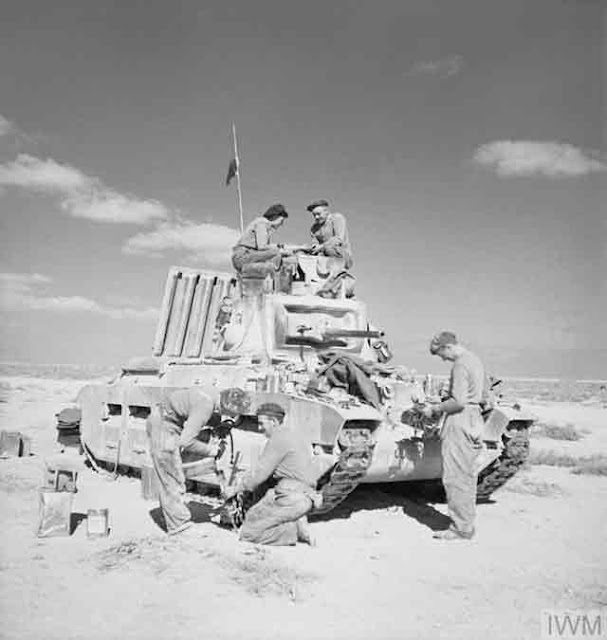 A British Matilda tank and crew near Tobruk, 1 December 1941 worldwartwo.filminspector.com