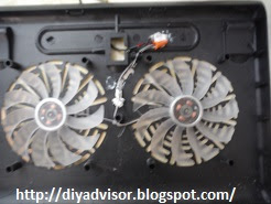 Apply silicone to fan wiring in the middle of the cooling fan