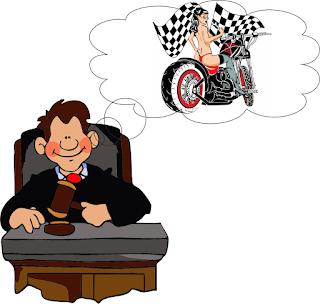 איור - שופט ואופנוע