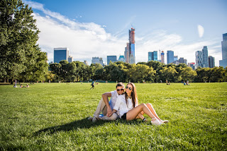 romantic photoshoot in Central Park