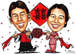 Gambar Karikatur Wedding China Prewedding