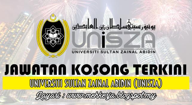 Jawatan Kosong Terkini 2016 di Universiti Sultan Zainal Abidin (UniSZA)
