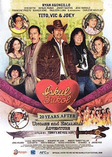 Iskul Bukol 20 Years After (Ungasis and Escaleras Adventure) is a Philippine comedy movie starring actors Tito Sotto, Vic Sotto, and Joey de Leon.