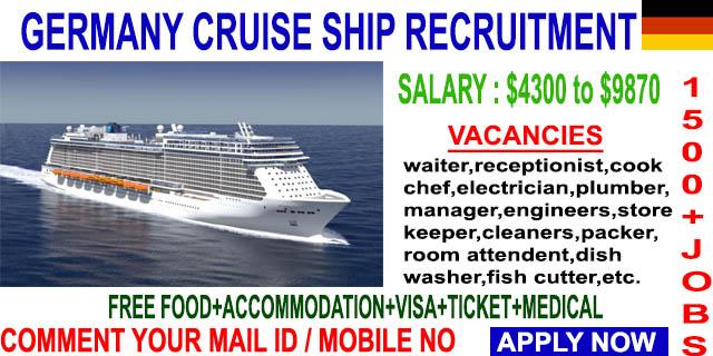 JOB VACANCIES AT GERMANY JOB VACANCY - Cruise ship staff salary