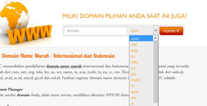 Mengeceknya Terlebih Dahulu Dengan Cara Memasukan Nama Domain Yang Telah Direncanakan Kemudian Pilih Tld Yang Di Inginkan Sesuai Dengan Konsep Website