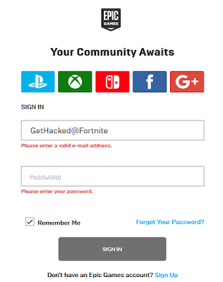 Epic Games single sign on Fortnite account PlayStation Xbox Nintendo Facebook Google