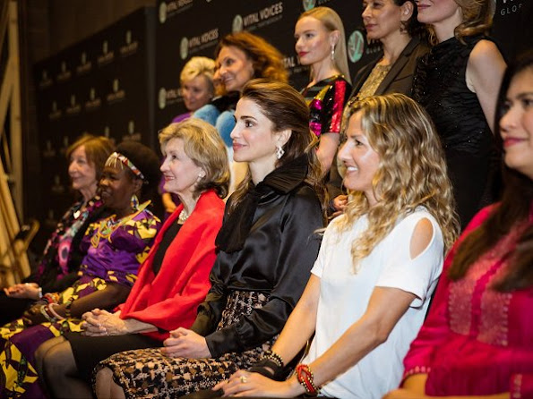 Queen Rania accepted the Vital Voices' Global Trailblazer. Queen Rania visits the Georgetown University Institute for Women, Peace and Security