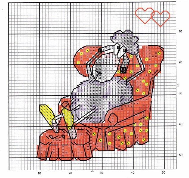 Схемы вышивки крестом влюбленные овечки.  Блоги Мастеров и любителей.  Пользователи Мастера и Любители.
