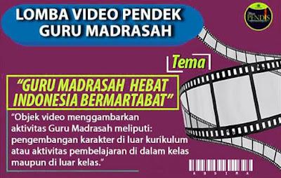 Direktorat GTK Madrasah Gelar Lomba Video Pendek Bagi Guru Madrasah