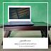 Meja laptop lipat bahan mahoni dan dobleplex