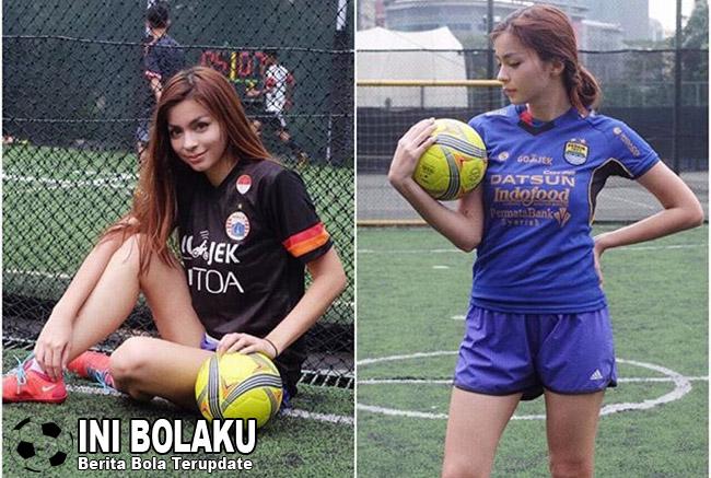 Pose Gaya Presenter Cantik, Sandra Olga Yang Bikin Sulit Berkedip