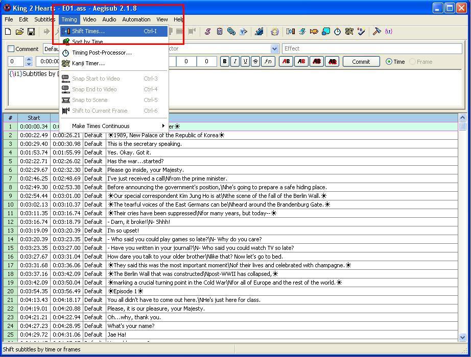 Para Facebook Ndol: Quick Subtitle Re-Synch Tutorial using Aegisub