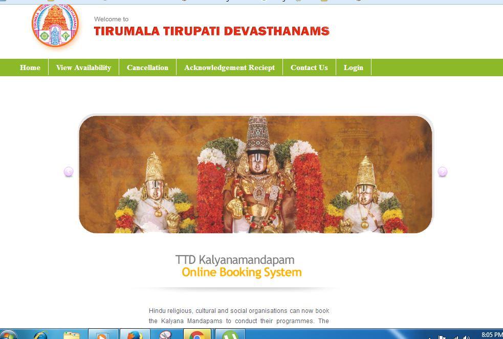 TTD KALYANAMANDAM (ANDHRA PRADESH & TELAGANA)BOOKINGS ARE DONE