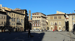 Piazza Santa Croce is one of the most famous squares in Florence