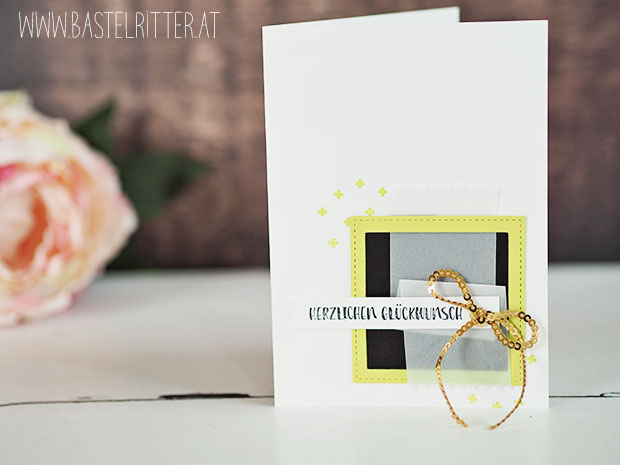 stampin up cest la schnipselritter bastelritter limette gold schwarz