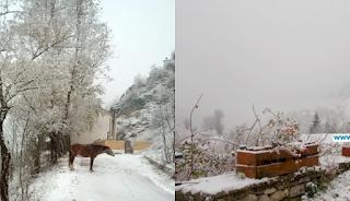 Έπεσαν τα πρώτα χιόνια σε Τρίκαλα και Ιωάννινα. Μαγευτικές εικόνες από το χιονισμένο τοπίο