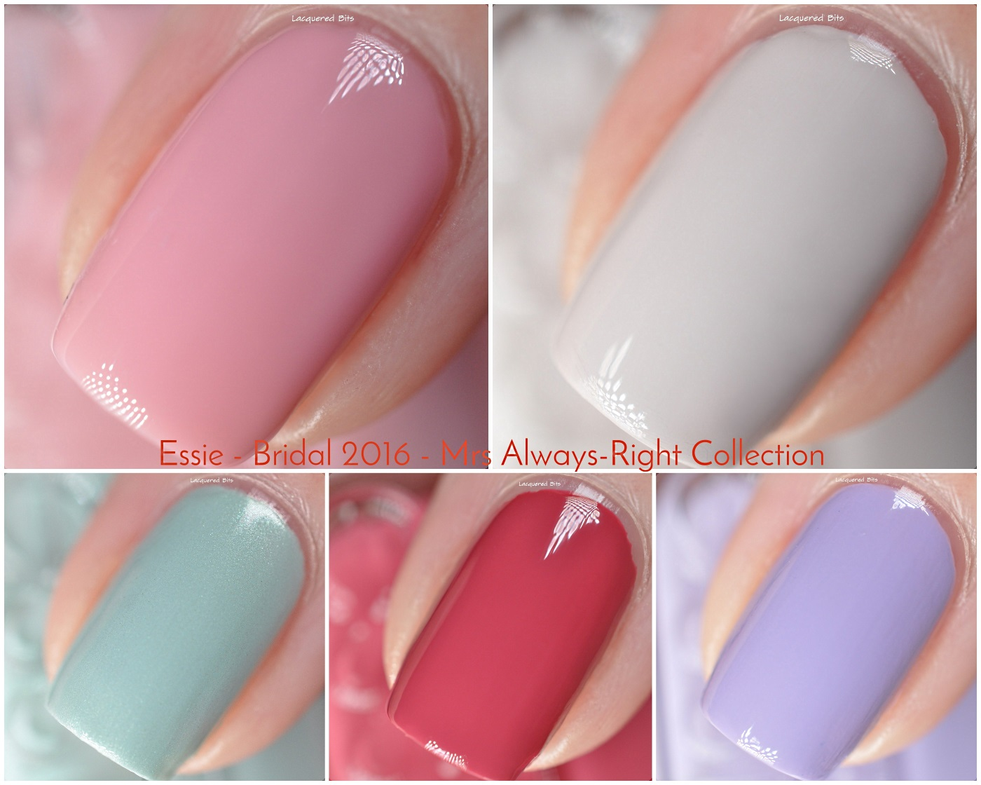 Essie Bridal 2016 - Mrs Always-Right Collection - Swatches & Review