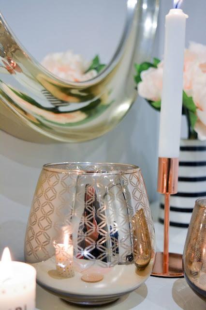 ab telloplast almhult sweden peili vintage ruusukulta kulta sisustus makuuhuone