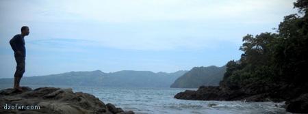 Danu dan pemandangan laut Karanggongso