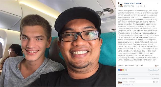 Curhat Anak Miliarder Beli HP Harus Kerja Dulu Ini Viral di Facebook
