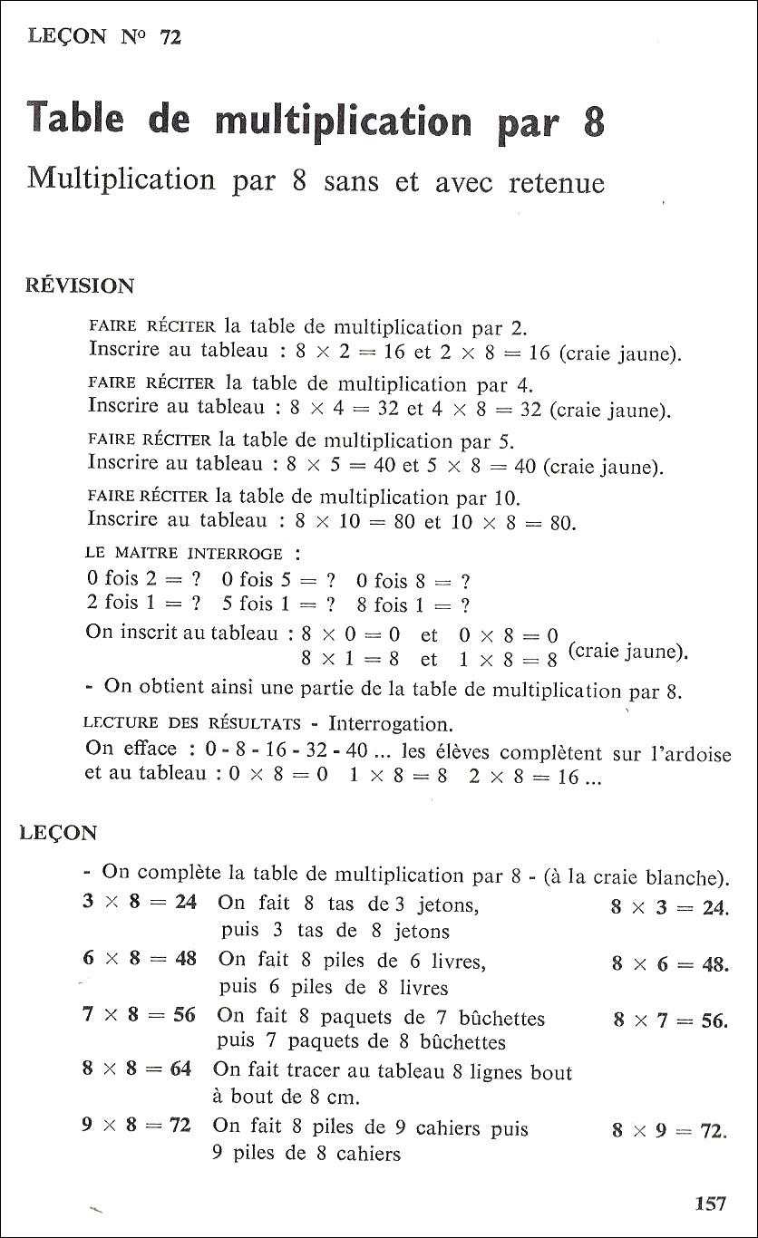 Manuels anciens de 500 999 benha m ce 71 75 for Table de multiplication en chanson