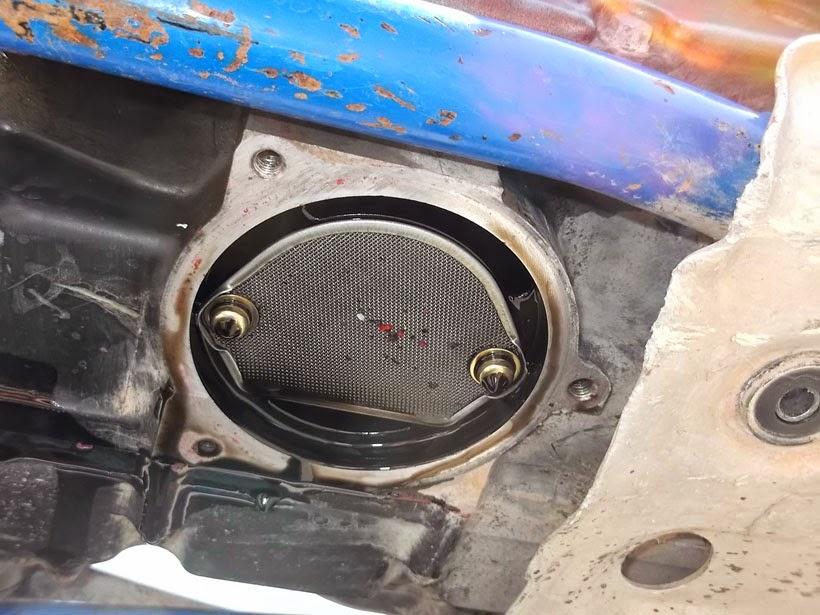 Rejilla metálica para filtrar aceite