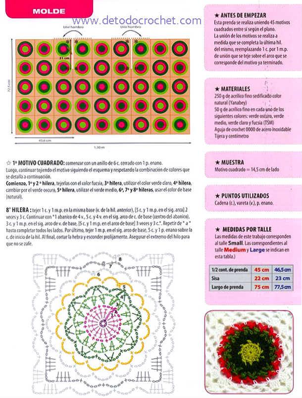 patrones y materiales para tejer chaleco crochet