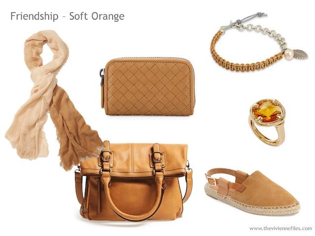 Adding Accessories to a Capsule Wardrobe in 13 color families - tan