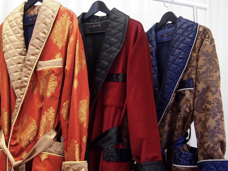 Men\'s Bespoke Luxury Robes and Dressing Gowns in Silk and Velvet