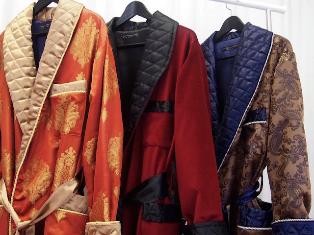 mens luxury quilted dressing gown extra long silk velvet bespoke robes traditional english vintage style
