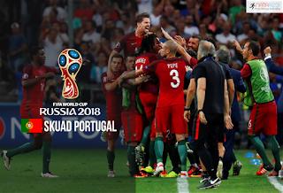 Skuad Susunan Pemain Portugal di Piala Dunia 2018
