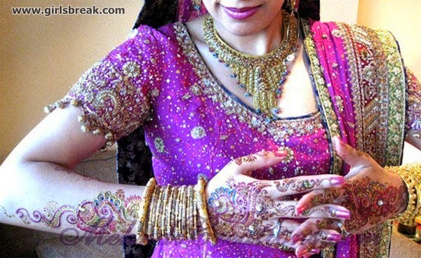 Bridal Eid Mehndi Designs 2014 For Girls www.bridalwebcity.blogspot.com