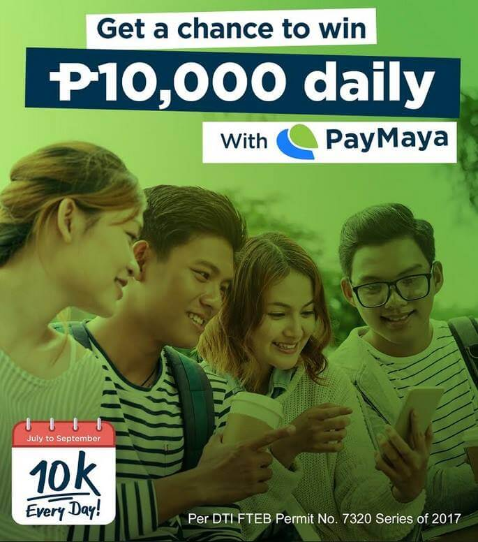 Shop, Pay Bills Using PayMaya To Win Php10K Every Day