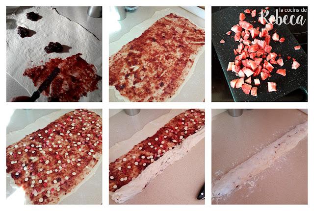 Receta de corona de fresa y chocolate: el relleno