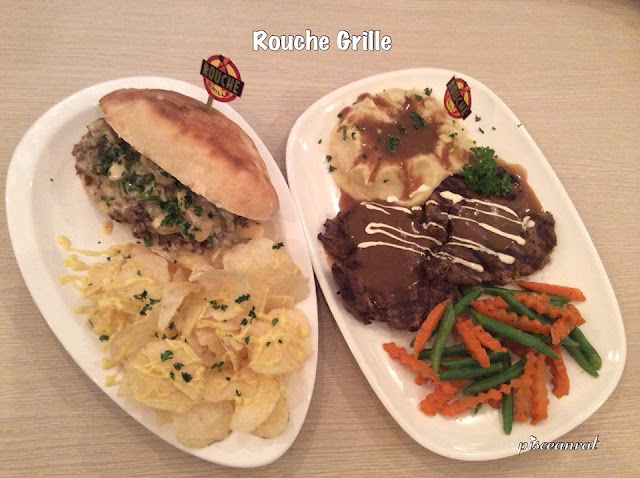 Rouche Grill- Philly Cheese Steak Sandwich and Rib Eye
