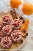 Кексы Красный бархат, крем из глинтвейна